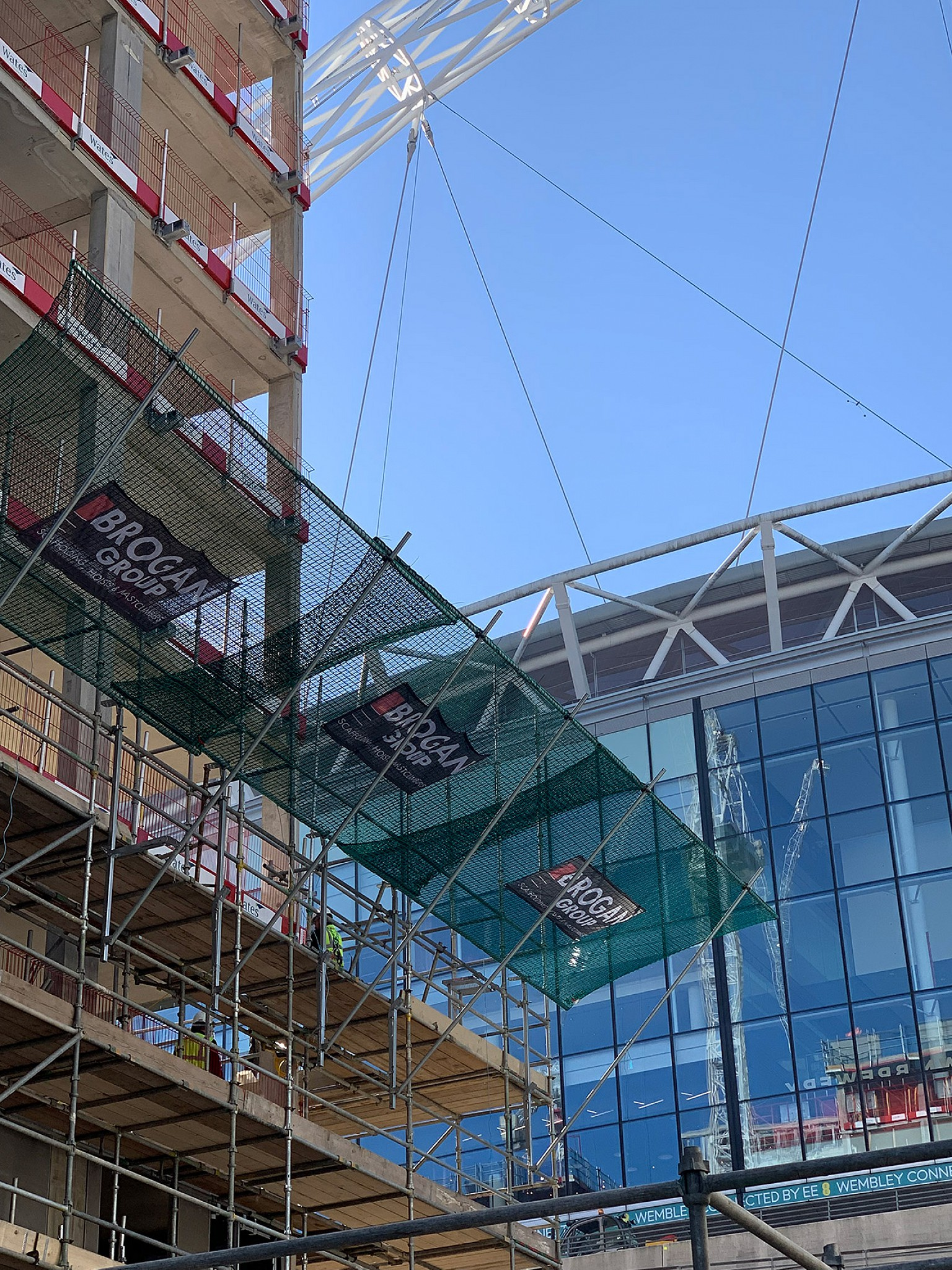 Accurate Safety Edge Protection and Safety Nets at Wembley in London, United Kingdom